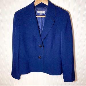 Kasper Double Button Blue Blazer